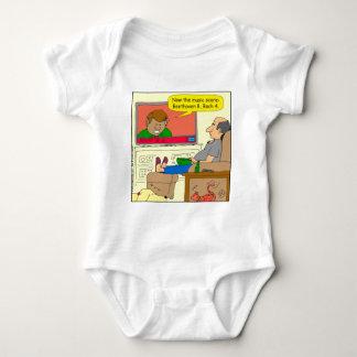 661 music score cartoon baby bodysuit