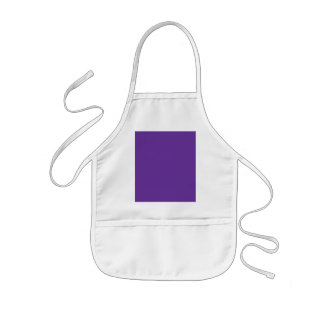 663399 Solid Color Purple Background Template Kids Apron