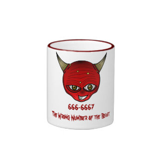 666-6667 The Wrong Number of the Beast Ringer Mug