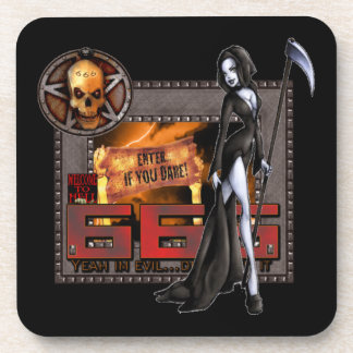 666 Hard Plastic Coasters (6)