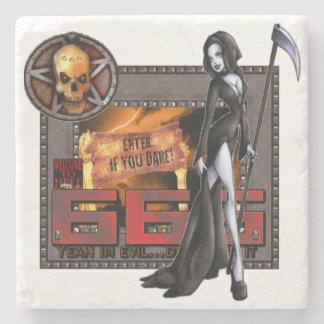 666 Marble Stone Coaster