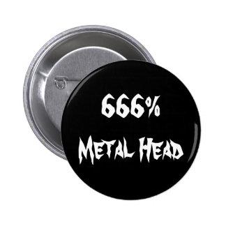 666%Metal Head 6 Cm Round Badge