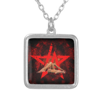 666 SILVER PLATED NECKLACE