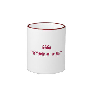 666A   The Tenant of the Beast Ringer Mug