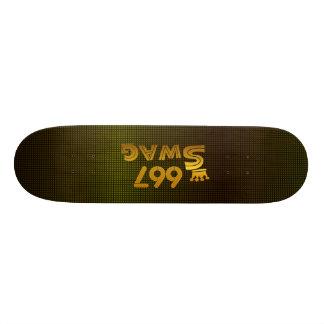 667 Area Code Swag Skateboard