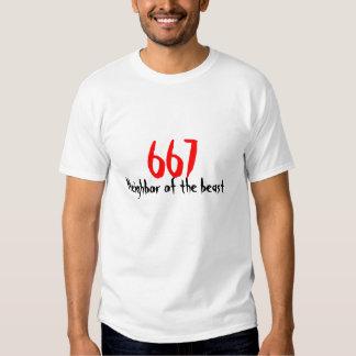 667 Neighbor of the beast T Shirts