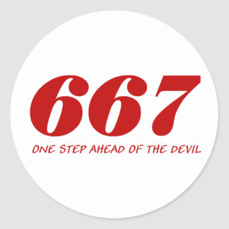 667 - One step Ahead OF The Devil - talk Classic Round Sticker
