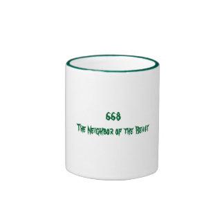 668 The Neighbor of the Beast Ringer Mug