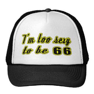 66 birthday designs trucker hats