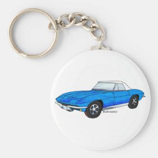 66 Corvette Roadster Keychain