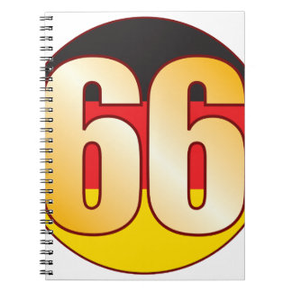 66 GERMANY Gold Spiral Notebook