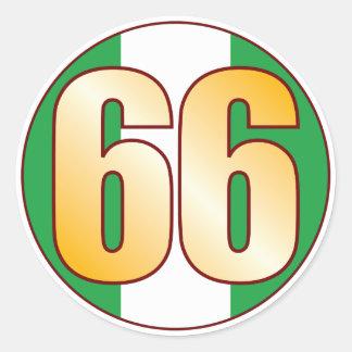 66 NIGERIA Gold Classic Round Sticker