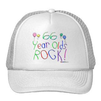 66 Year Olds Rock ! Hat