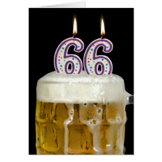 66th Birthday Beer Card