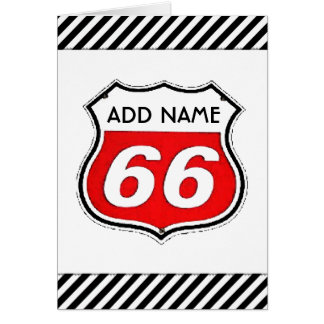 66th Birthday Card