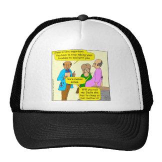 675 sleep is important cartoon trucker hat