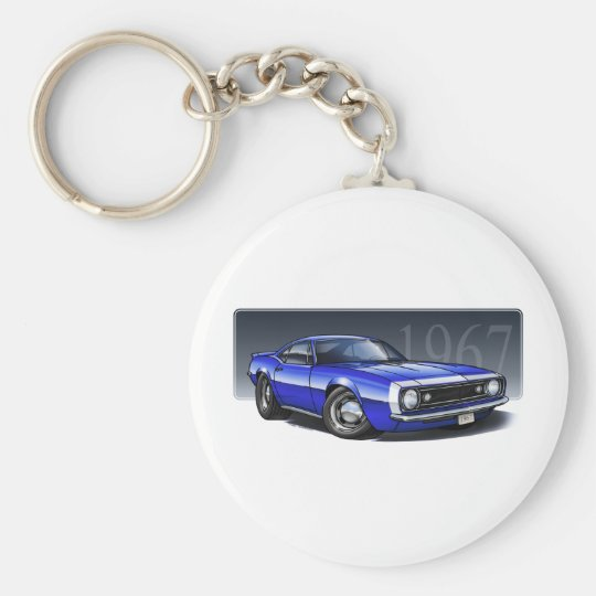 67_Blue_W.png Basic Round Button Key Ring
