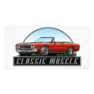 67 Chevelle Convertible Personalised Photo Card