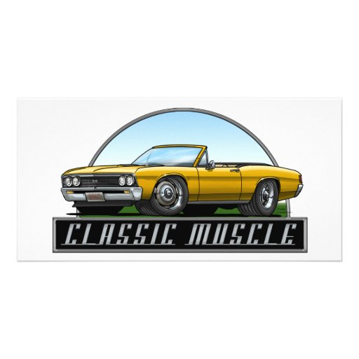 67 Chevelle Convertible Personalized Photo Card