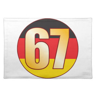 67 GERMANY Gold Placemat