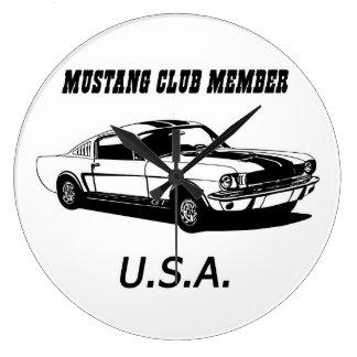 67 Mustang - Mustang Club Member Clock