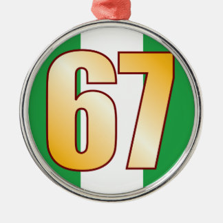 67 NIGERIA Gold Christmas Ornament