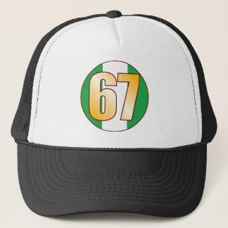 67 NIGERIA Gold Trucker Hat