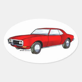 67 Pontiac Firebird Oval Sticker