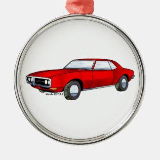 67 Pontiac Firebird Silver-Colored Round Decoration