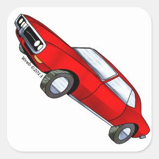 67 Pontiac Firebird Square Sticker
