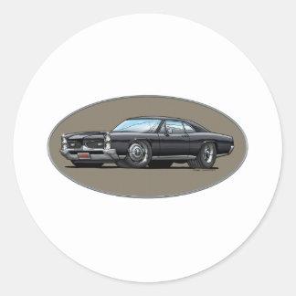 67 Pontiac GTO_black Sticker