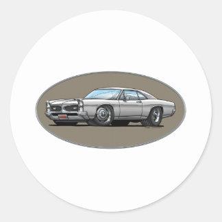 67 Pontiac GTO_white Sticker