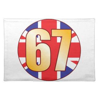 67 UK Gold Placemat