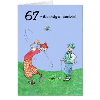 67th Birthday Card for a Golfer