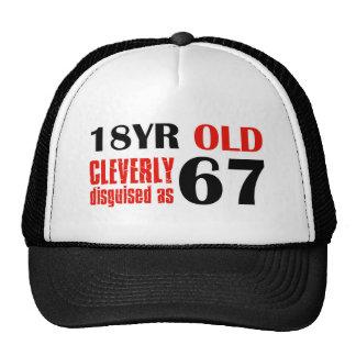 67th birthday designs cap