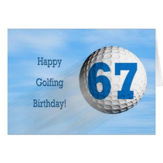 67th birthday golfing card