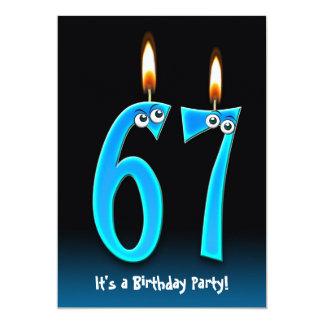 67th Birthday Party Invite