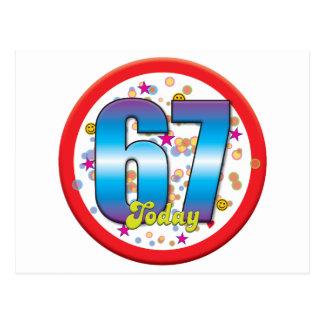 67th Birthday Today v2 Postcard