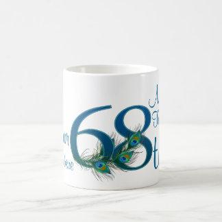 # 68 - 68th Wedding Anniversary or 68th Birthday Basic White Mug