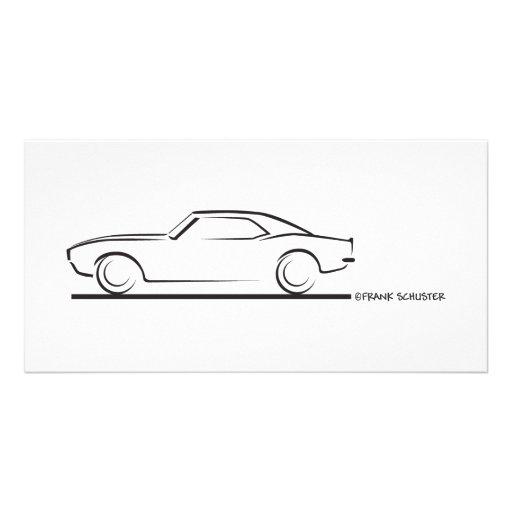 68 Camaro Hard Top BLK Customized Photo Card