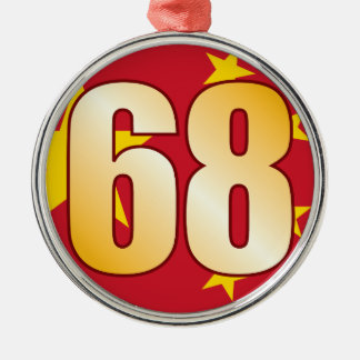 68 CHINA Gold Christmas Ornament