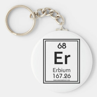 68 Erbium Basic Round Button Key Ring