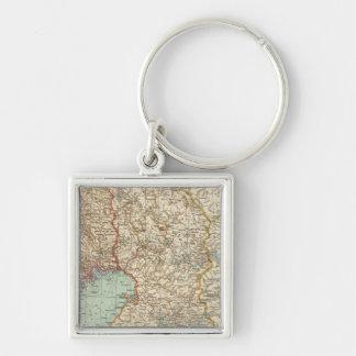 68 Finland Silver-Colored Square Key Ring