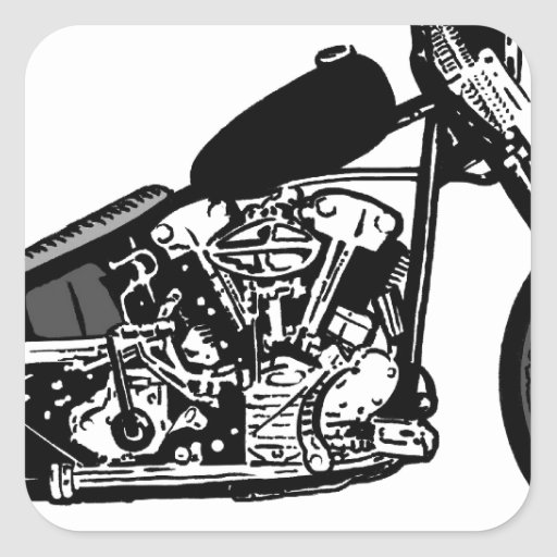 68 Knuckle Head Motorcycle Stickers