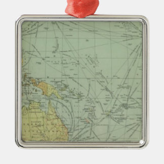 68 lines of communication, Indian Ocean Silver-Colored Square Decoration
