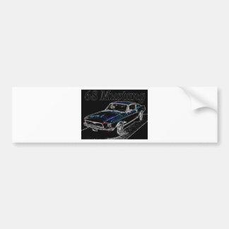 68 mustang bumper sticker