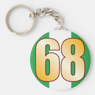 68 NIGERIA Gold Key Ring