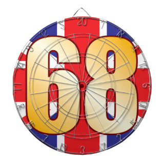68 UK Gold Dartboard