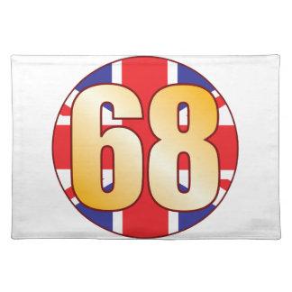 68 UK Gold Placemat
