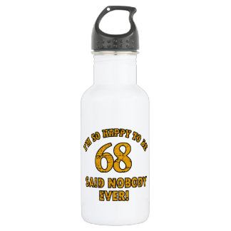 68 years Old birthday designs 532 Ml Water Bottle